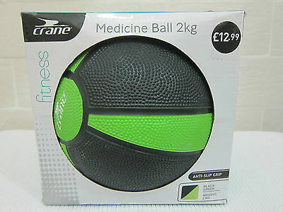 2 KG Crane Medicine Ball - Keep Fit-  Gym Training-Fitness-Strength Exercise-New