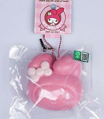 1 pc MY MELODY STRAWBERRY Squishy Cellphone Soft Bread Straps CUTE