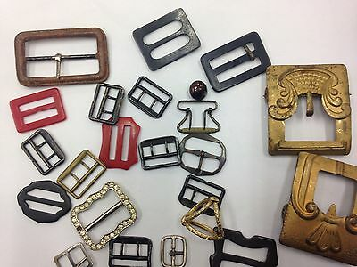 Antique And Vintage Quantity Of Belt And Shoe Buckles