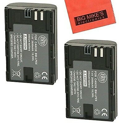 BM Premium 2-Pack of LP-E6 LP-E6N Batteries for Canon XC10 EOS 60D EOS 70D EO...