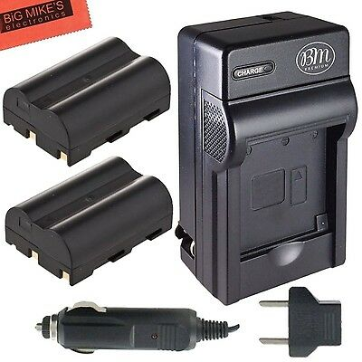 Pack Of 2 BP-511 BP-511A Batteries & Battery Charger for Canon EOS 5D 50D 40D...