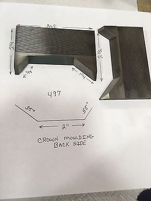 Corrugated Shaper Cutters-Crown Moulding Back Side #497
