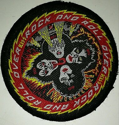 KISS Rock and Roll Badge Patch