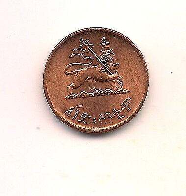 EE1936 (1943-44) Ethiopia Five Cents--Mint Red !!
