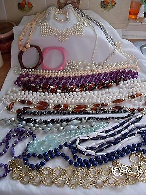 Job Lot Of Vintage/retro Costume Jewellery,faux Pearls,beads,necklaces,60S/80S