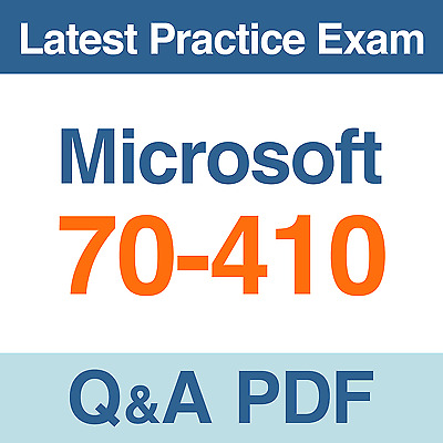 Microsoft Practice Test MSCA Certification 70-410 Exam Q&A PDF