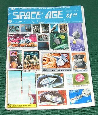 20 Stamps - Space Age, Treat Series 678 No. 26, Unopened Package