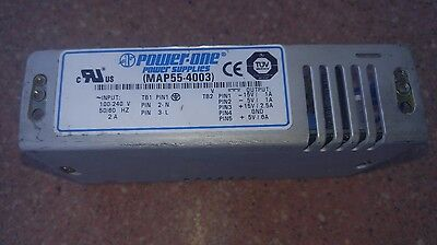 Power One MAP55-4003 Power Supply, For Use At 110V/60Hz, 2A, 230V/50Hz, 1A