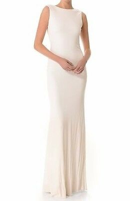 Badgley Mischka Cowl Back Gown Ivory size 0