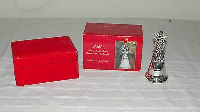 Madison Avenue Collectible Silverplated Angel Bell Christmas Fourth Edition 1999