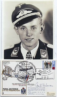 Erich Hartmann German All Time Highest Ace 352 Victories WW II Signed Cover