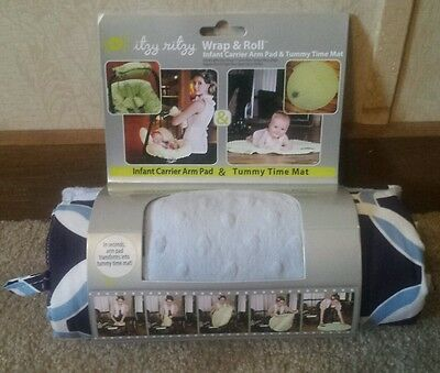 Itzy Ritzy Wrap and Roll Infant Carrier Arm Pad Tummy Time Mat New In Packaging