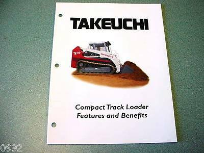 Takeuchi Compact Track Loaders Features & Benefits Brochure