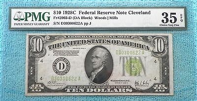 1928-C Fr#2003-D VF-35 EPQ $10 FRN Redeemable in Gold On Demand Lot #1