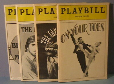 Vintage 1980's Theatre Playbill 4 Program Collection On Your Toes Brighton Beach