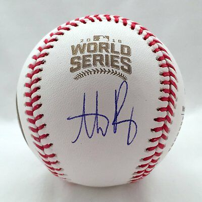 Cubs Anthony Rizzo Autographed 2016 World Series Baseball USA SM Auth