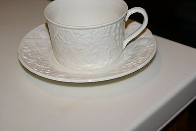 6 EACH Mikasa English CountrySide White Cups and Saucers Grapes/Leaves PATTERN