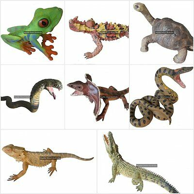 Reptile Animal Replica Toy lizard tortoise crocodile snake python frog collecta
