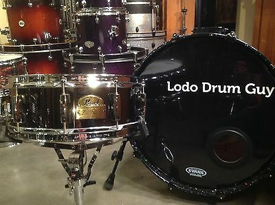 """14"""" Pearl Chad Smith 14x5 BLACK NICKEL PLATED Steel Snare"""