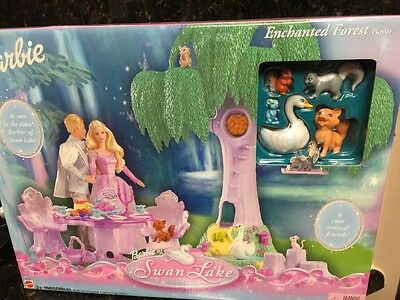 Barbie 2003 Swan Lake Enchanted Forest Playset NRFB B0239 Tree Table Accessories