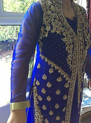 indian dress and wrap approx size 12