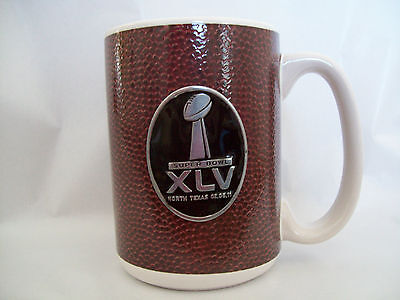 Super Bowl Nfl Xlv Game Ball Ceramic Mug 15Oz Nwt