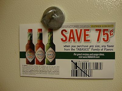 Five $0.75 Tabaasco Sauce Coupons  (Expires 2/28/2017)