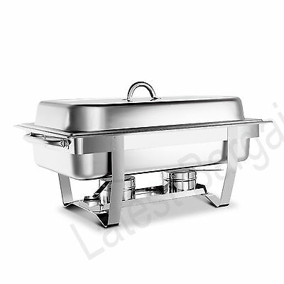 9L Stainless Steel Bain Marie Chafing Dish Buffet Food Warmer