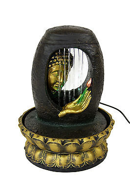 Buddha Indoor Tabletop Waterfall Water Fountain w/Color Changing LED Light