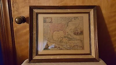 Donald Art Company, North America by Homann 1750 Vintage Reproduction Map