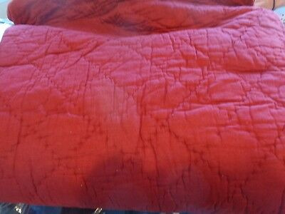 Pottery Barn Kids Branson reversible  quilt twin red New