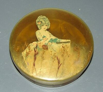 ANTIQUE 1920'S Trinket Box CELLULOID