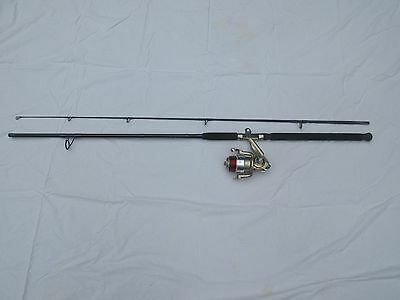"""Fishing Rod And Reel Combo 9"""" 2 Piece Rod & Quantum Blue Runner 80 Reel W/Line"""