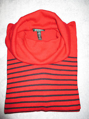 NEW Ralph Lauren Cowl Neck  Womens Plus Red/Black  2X  Sweater $120