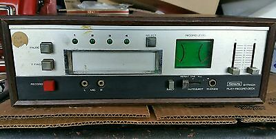 Vintage Sears and Roebuck 8 Track recorder and player. Wooden case
