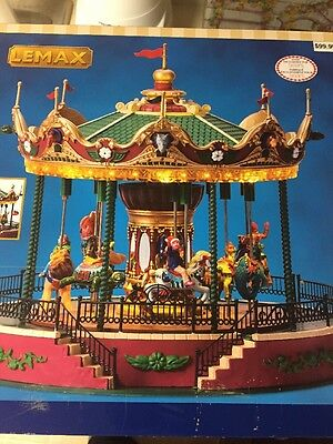 Holiday Christmas Village Coventry Cove Lemax Animated Jungle Carousel Sounds 2