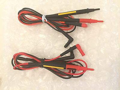 ONE New pair Fluke TL175 Twistguard Test Leads, 2 mm Diameter Probe Tips,