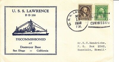 USS Lawrence DD-250, Decommissioned, Sep. 13, 1938 (S0728)