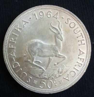 1964 South Africa 50 Cents EF++++/aUNC Silver Crown.....
