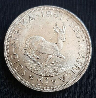 1951 South Africa 5 Shillings EF+++/ aUNC+ Silver Crown.....