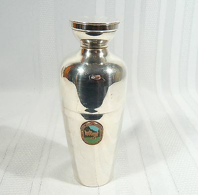 Small MARTINI Cocktail SHAKER Vintage Silver plate Oilmen's Golf Trophy 1963