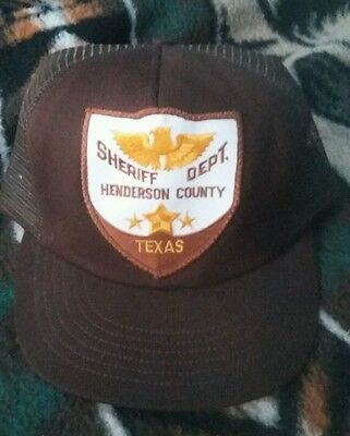 Henderson County TX Sheriff Dept. Patch Hat Brown