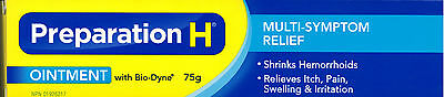 75g Preparation H Ointment With Bio-Dyne Multi-Symptom Relief Made In Canada