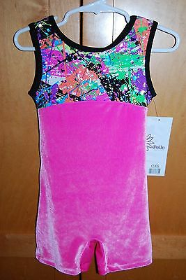 New with Tag -Pelle Girls Gymnastics Dance Unitard Leotard - Size Child XS (4)