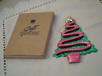 """Vintage Avon Reflections Of Christmas Tree Ornament,new In Box 5"""""""
