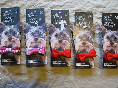 Bow ties for pet dogs NEW @LOT of 15@ assorted sizes & assorted colors, FREESHIP