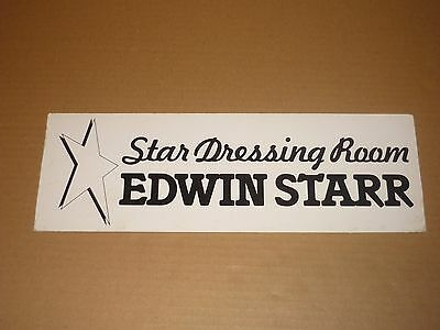 "Edwin Starr 1980 ""Star Dressing Room"" Sign from his UK Tour"