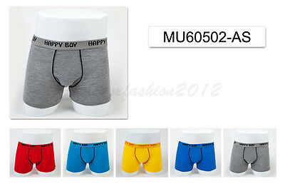 5pc Size 9 8-10 years Comfort Cotton Boys Boxers Briefs Classic Kids Underwear
