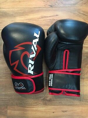 New Rival RS4 16oz Classic Black Boxing Gloves FREE SHIPPING