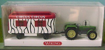 Wiking Ho Scale - 'tractor + Circus Trailer' - 1/87 Scale Model #87540